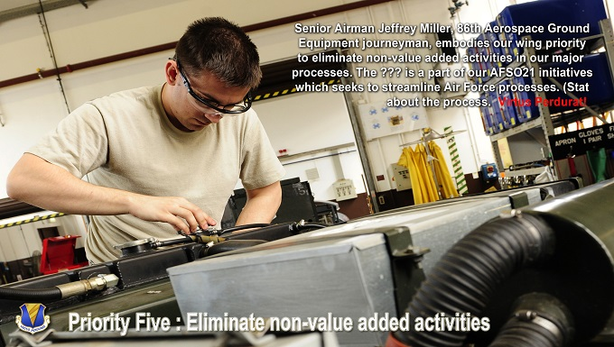 Eliminate non-value added activities