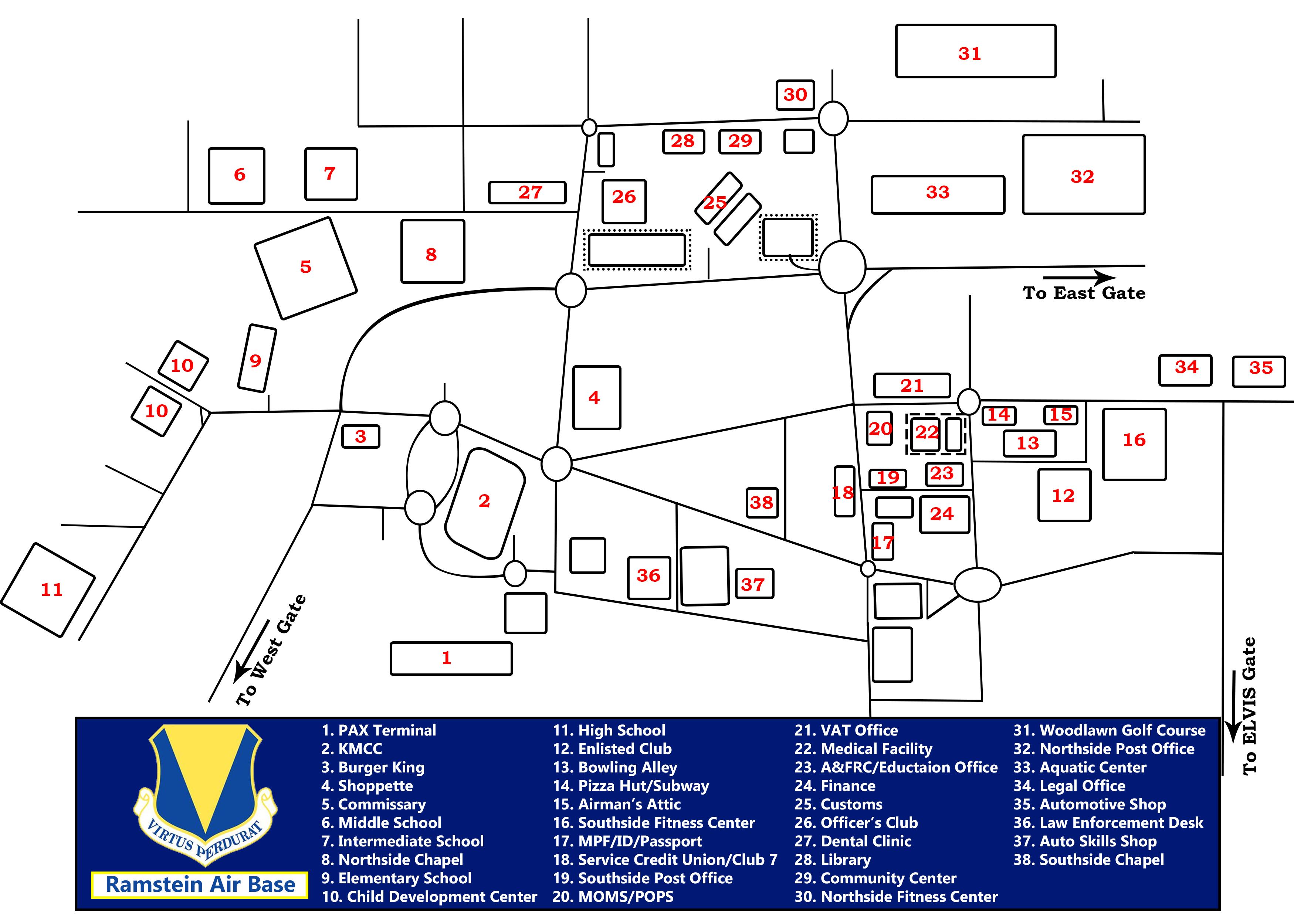 Ramstein Air Base KMC Spouses - Germany map ramstein